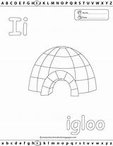 Igloo Coloring Pages Template Abc Learn Fun Preschool Printable Worksheets Letter Preschoolers Alphabet Kindergarten Tested Allows Method Enjoy Child While sketch template