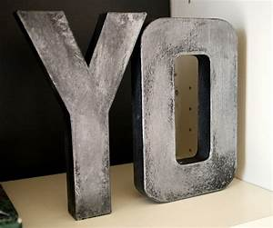 faux metal paint newsonairorg With diy metal letters