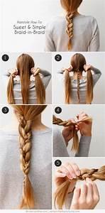 Coiffure Simple Femme : coiffure simple pour femme avec tresse coiffure simple et facile ~ Melissatoandfro.com Idées de Décoration