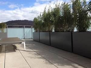 galerie photos bacs sur mesure image39in amenagement d39une With grande jardiniere pour terrasse