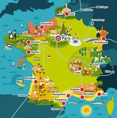 France Carte Touristique Villes Touristiques Tourisme
