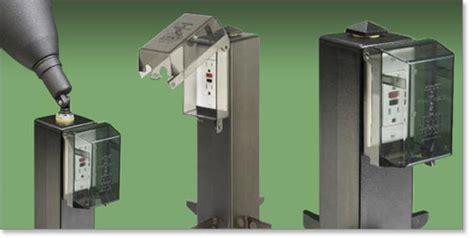 outdoor plug in l post arlington industries gp19b 1 gard n post outdoor landscape