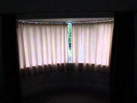 bay window rods with bay window curtain pole kit with corner window curtain a silent gliss 5090 autoglide curtain tack on a bay window