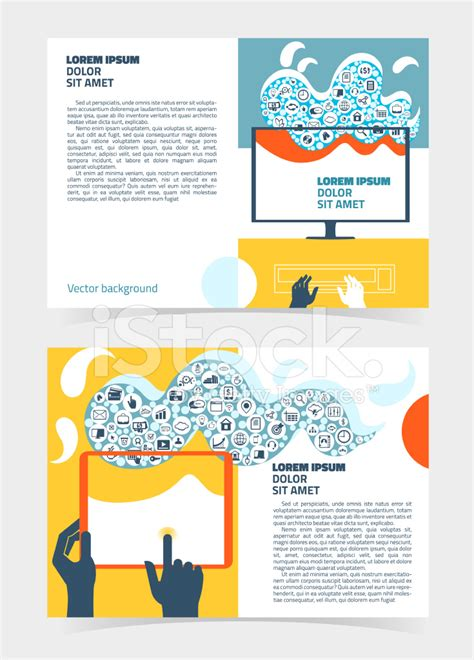 Computer Science Flyer Editible Template by Flyer Leaflet Booklet Editable Design Template A5 Stock