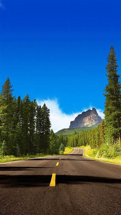 Iphone Nature Wallpapers Road Landscape Mountain Forest