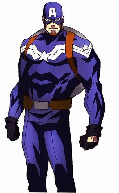 Captain America Cartoon Animated Capitan Gambar Animado