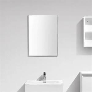 miroir siena largeur 50 cm avec cadre aluminium design With porte d entrée alu avec robinet thermostatique salle de bain