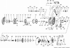 Shakespeare Fishing Reel Parts Diagram