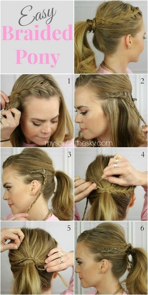 15 cute and easy ponytail hairstyles tutorials hairspray