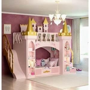 Lit Superposé Princesse : magnifique lit chateau superpos pour filles compos du ~ Teatrodelosmanantiales.com Idées de Décoration