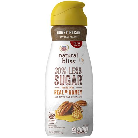 Yep, your two favorite things all in one! COFFEE MATE NATURAL BLISS Honey Pecan All Natural Liquid Coffee Creamer 16 fl. oz. Bottle ...