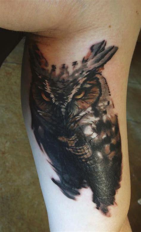 map tattoo tattoos nature animal owl owl