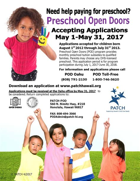 benefit employment amp support services child care program 285   POD Flyer A May 2017 corrected