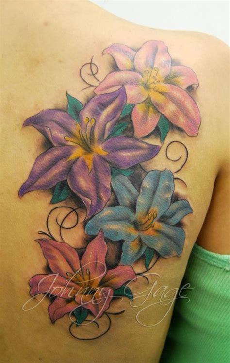 lily flower tattoo designs pretty designs