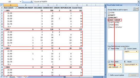 pivot table excel tables data sample example spreadsheet organize tutorial field range portfolio age row options create pivottable worksheet productivity