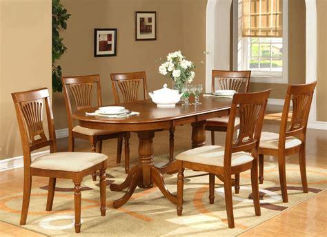 pc oval dining room set table   leaf