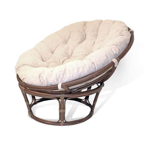 rattan wicker handmade  papasan chair thick cushion