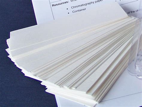 Chromatography Paper Chromatography Paper 100 Pieces Individual Science