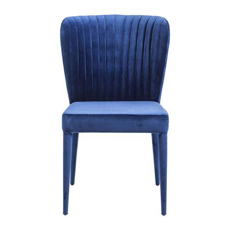 chaise kare design chaise rétro bleue cosmos kare design