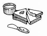 Butter Peanut Coloring Reeses Bread Sliced Template Tablero Seleccionar sketch template