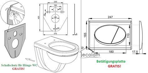 wc sitz abmessungen wc vorwandelement 100 cm toilette wandh 228 ngend