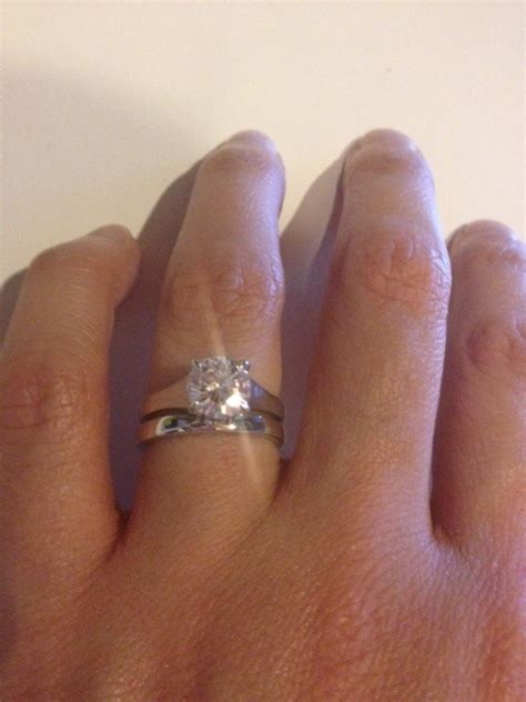 wedding and engagement rings that don t sit flush together