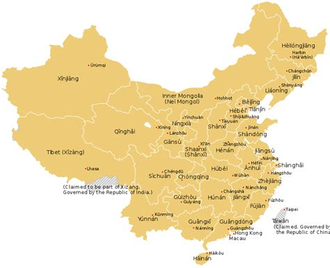 map  china province