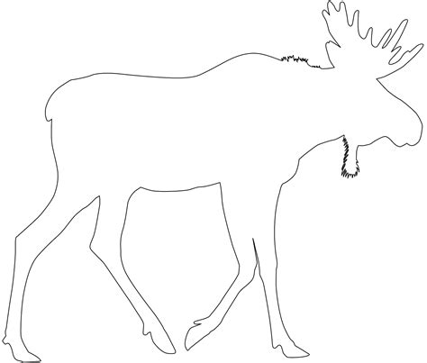 Moose Silhouette Free Vector Silhouettes