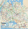 Large detailed Queens bus map, NYC | New York | USA ...