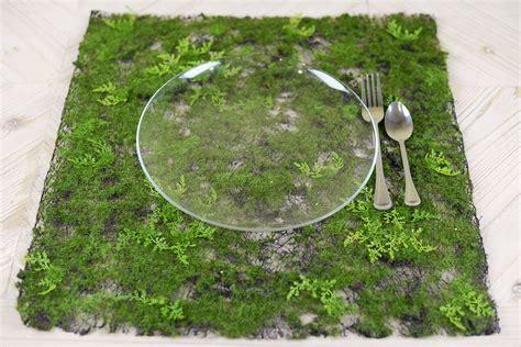 artificial moss fern place mat