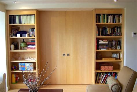 Bookcase Divider Wall by Bookcase Divider Wall With Pocket Doors Contemporary