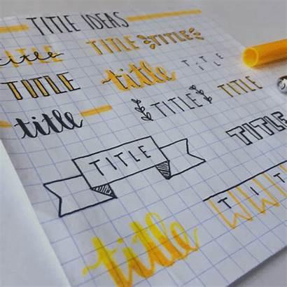 Notes Title Bujo Studygram Check Hey Tell