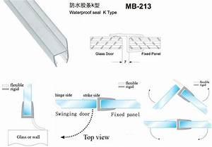 joint de la porte de douche en verre porte coulissante en With joint porte douche coulissante