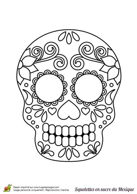 masque rituel à tête de fils des histoires coloriage squelette sucre nature sur hugolescargot com