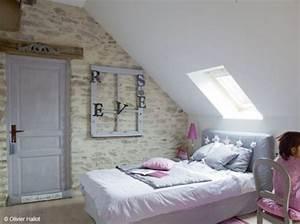 amenager une chambre sous combles de style romantique With chambre sous les combles