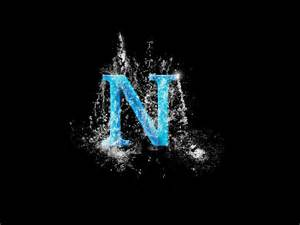 The Letter N with a Cool Background
