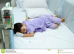 Children Patient In Hospital Bed Stock Photography - Image ...