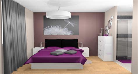 peinture chambre prune et gris décoration chambre prune et gris
