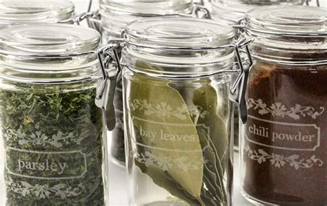 Kitchen Spice Jars Glass by Engraving Glass Spice Jars Lasermade Ideas Spice Jars