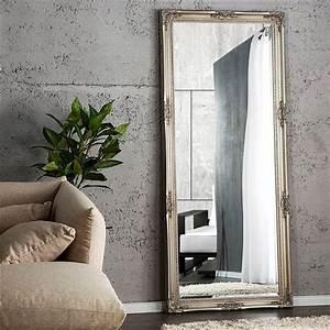 Großer Spiegel Silber : grosser barock spiegel alessandro 185cm silber ankleidespiegel wandspiegel ebay ~ Indierocktalk.com Haus und Dekorationen