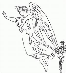 free printable angel coloring pages - male guardian angel coloring page az coloring pages