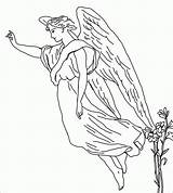 Angel Coloring Pages Guardian Angels Male Printable Sheets Drawing Rocks Colouring Little Adults Female Drawings Tattoo Engravings Egraving Adult Print sketch template