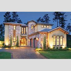 Mediterranean Style House Plan  4 Beds 5 Baths 3031 Sqft