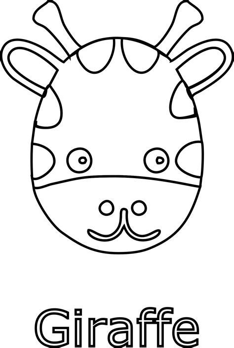 giraffe face black white image daily cliparts