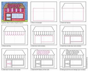 How To Draw A Shop  U00b7 Art Projects For Kids