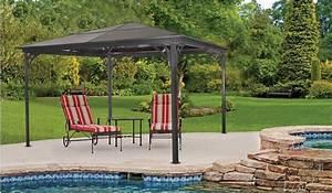 Pavillon 3x3 Dach : outdoor aluminium pavillon 3x3 m gro en garten terrasse dach markise schatten neu tower produkt ~ Orissabook.com Haus und Dekorationen