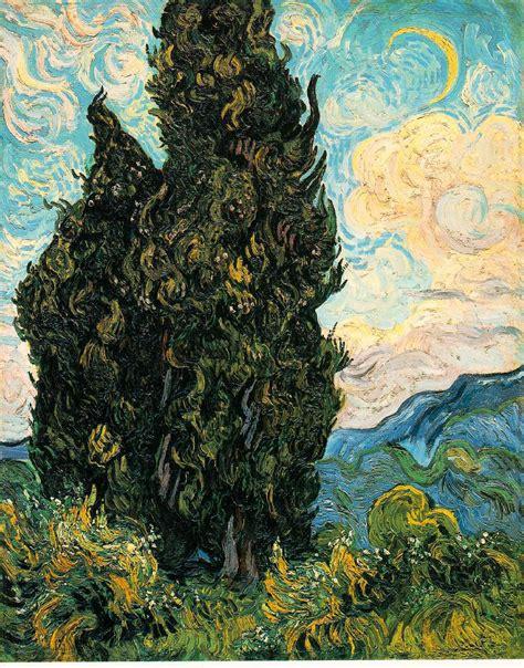 vincent gogh artwork webmuseum gogh vincent fields and cypresses