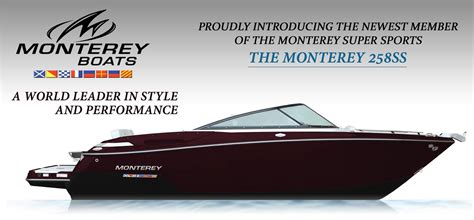 Monterey Boats Careers by Introducing Monterey Boats New 258ss