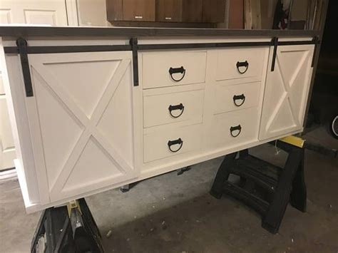 salvage kitchen cabinets large sliding barn door vanity with drawers teen lounge 2094