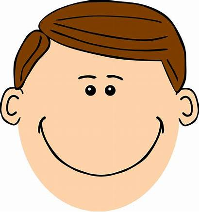 Clipart Dad Face Brown Father Haired Hair